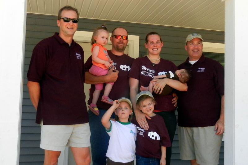Johnson family's new Habitat home