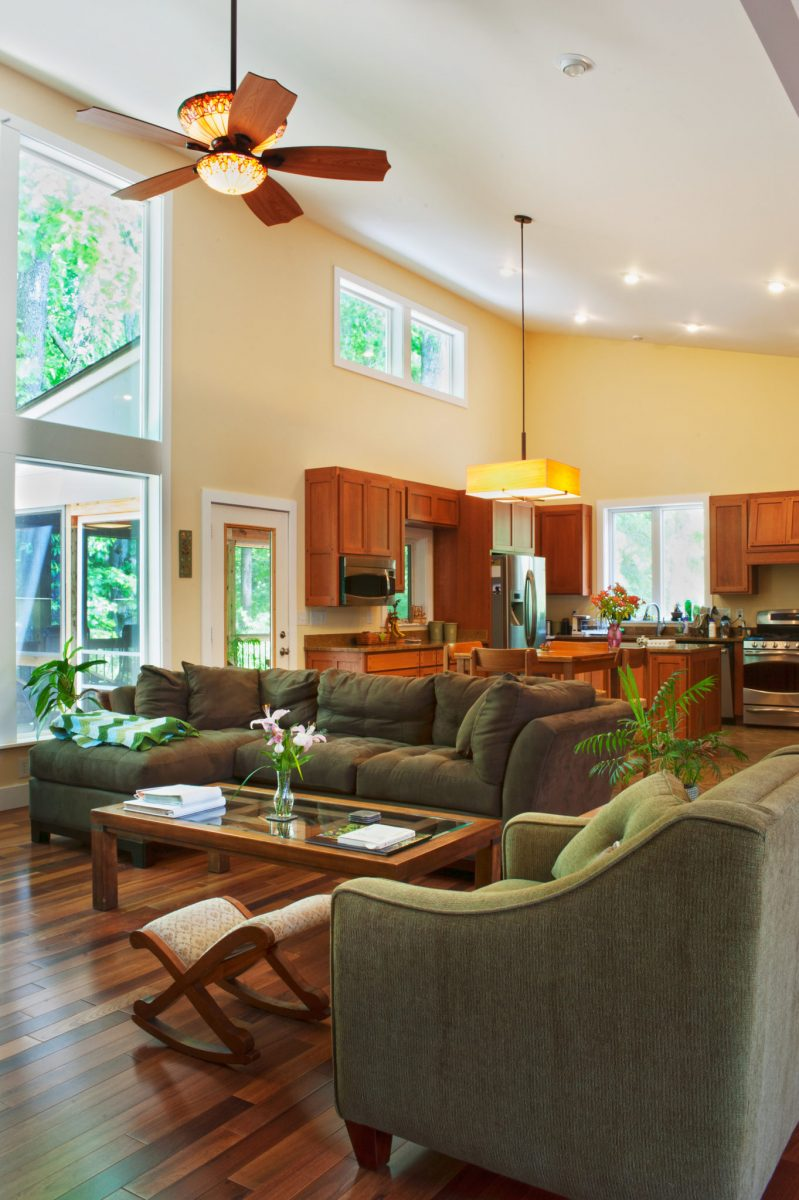 modern vaulted ceiling
