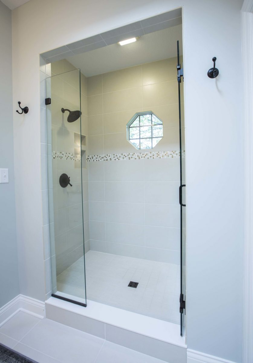 new large shower