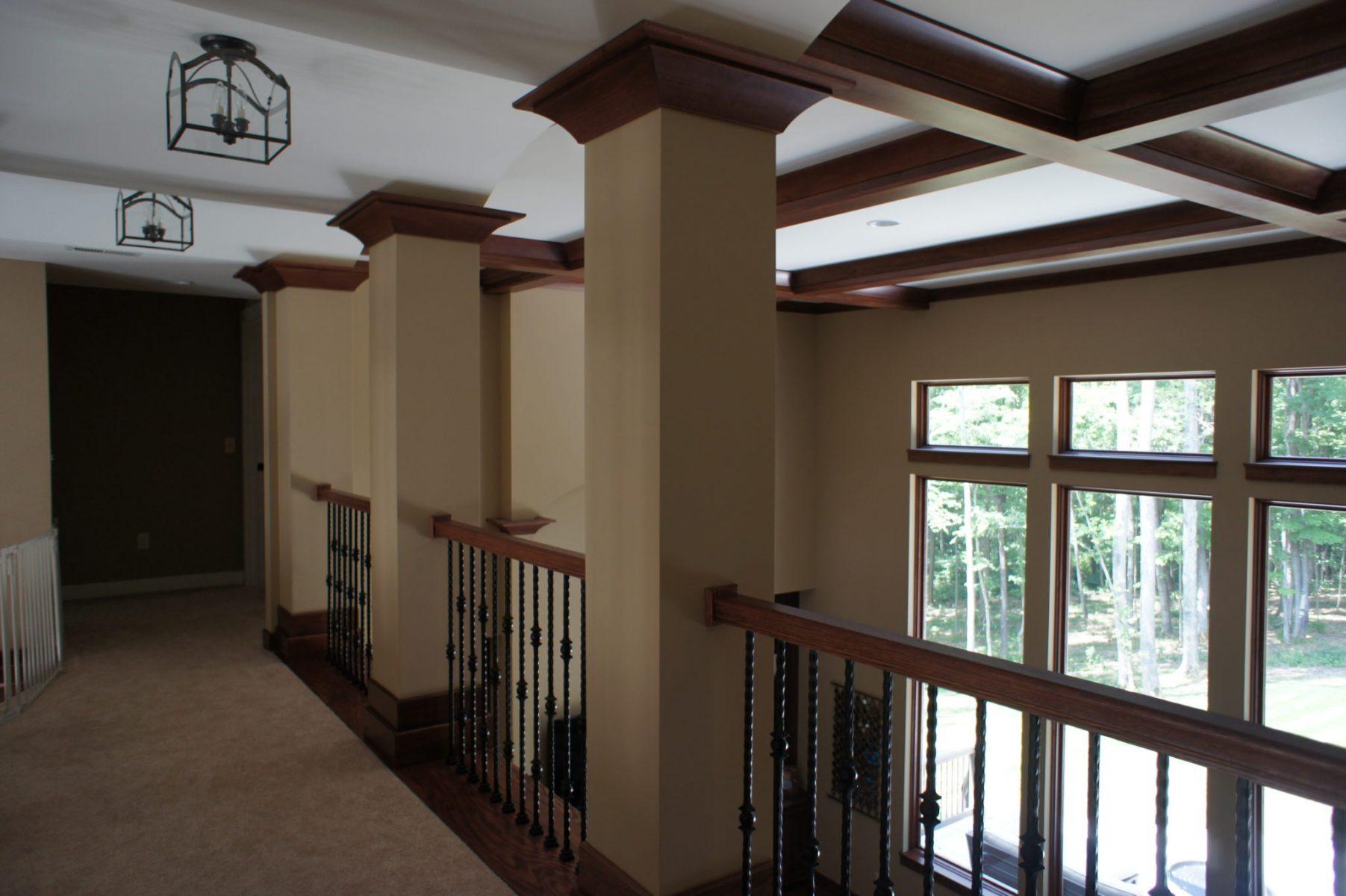 overlooking hallway
