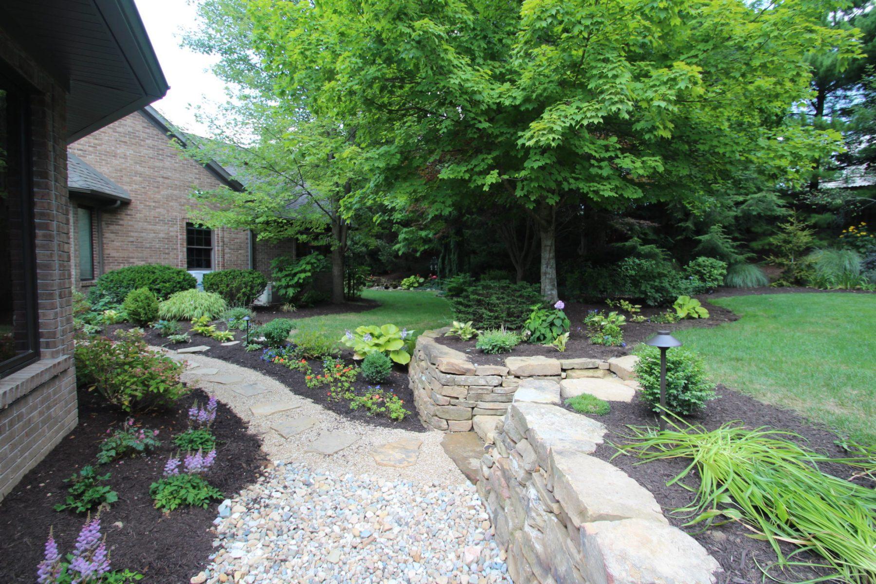 inviting limestone pathway