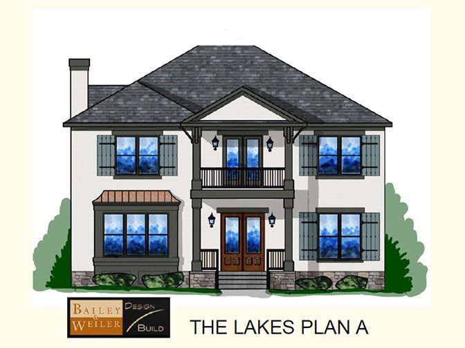 RENDERING OF CUSTOM HOME PLAN