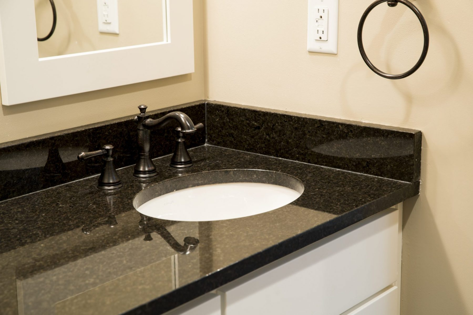 granite countertops in master bath