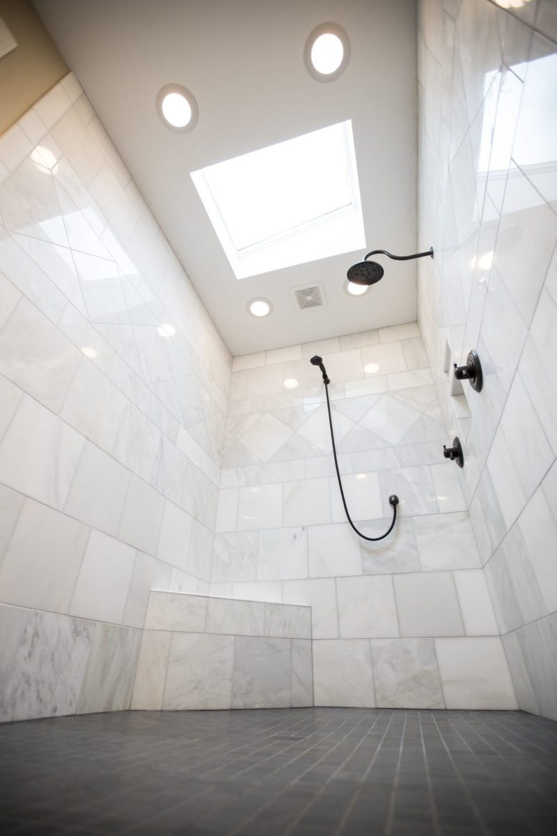 skylight in shower