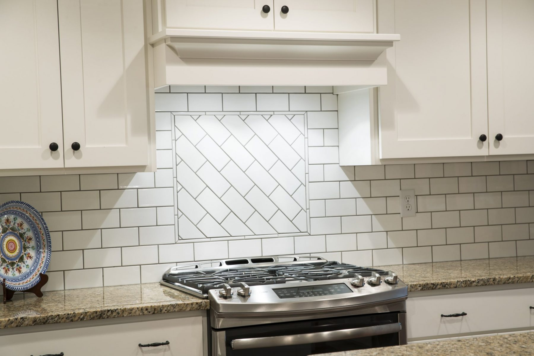 custom subway tile over stovetop